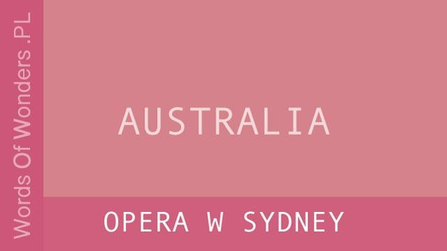 wow Opera w Sydney