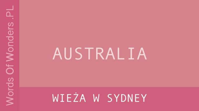wow Wieża w Sydney