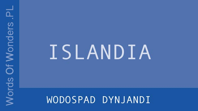 wow Wodospad Dynjandi
