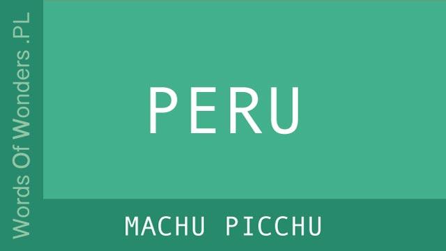 wow Machu Picchu