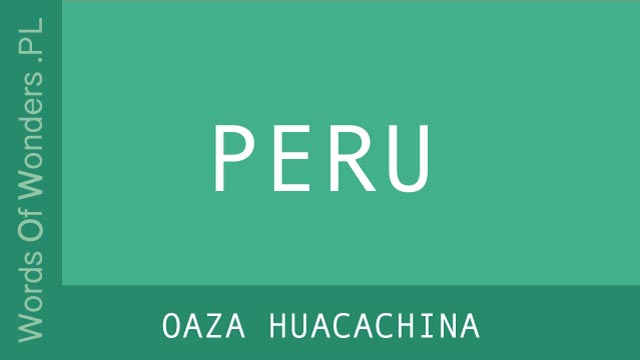 WOW Oaza Huacachina