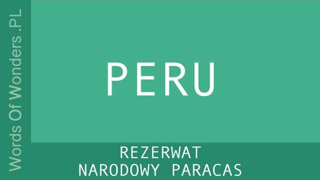wow Rezerwat Narodowy Paracas