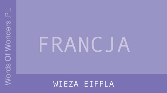 WORDS OF WONDERS WIEŻA EIFFLA