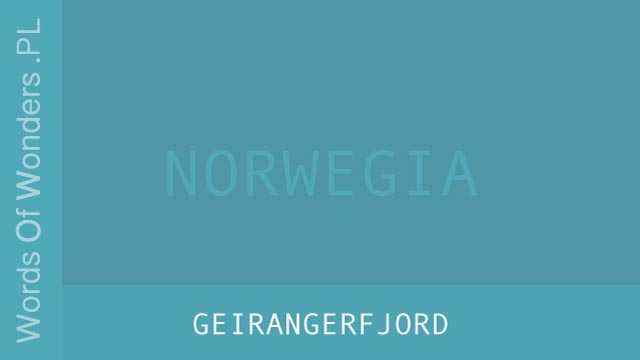 wow Geirangerfjord