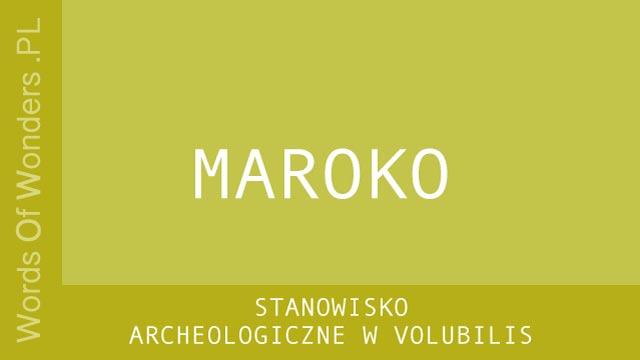 wow Stanowisko Archeologiczne W Volubilis