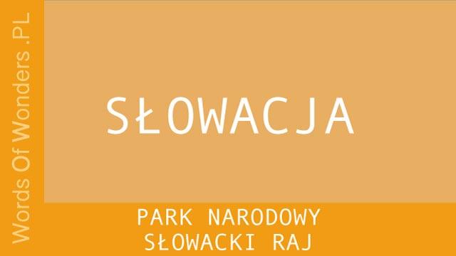 WOW Park Narodowy Słowacki Raj