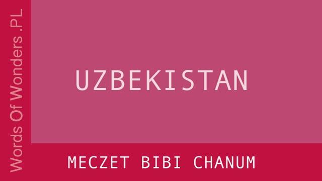 WOW Meczet Bibi Chanum