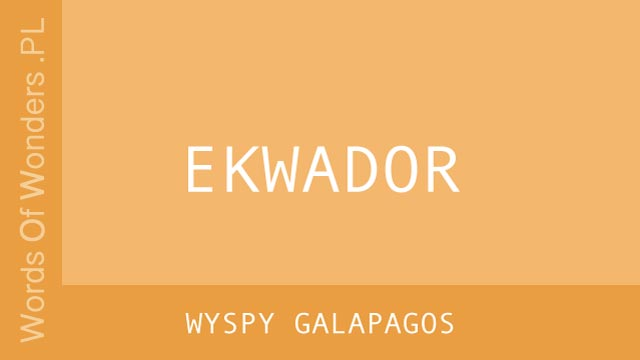 WOW Wyspy Galapagos