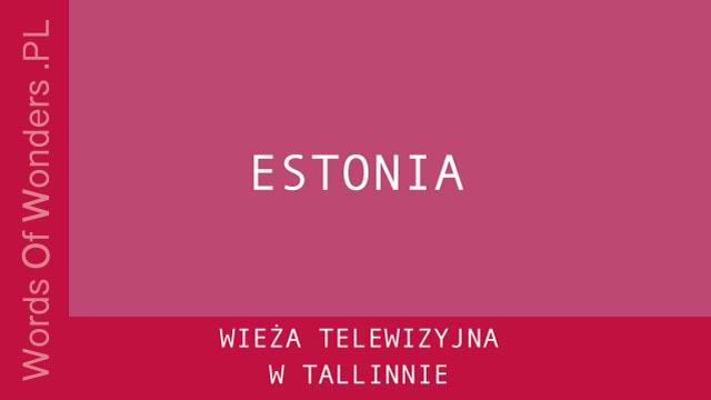 WOW Wieża Telewizyjna W Tallinnie